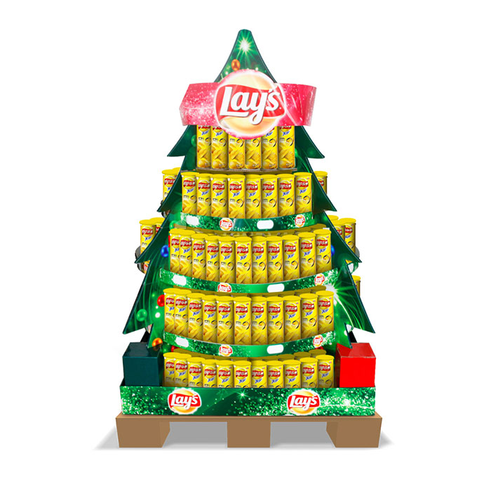 Commercial Christmas Trees From 12 To 100 In Height: Pallet Display In Christmas Tree Shape