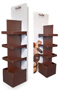 cardboard cosmetic display