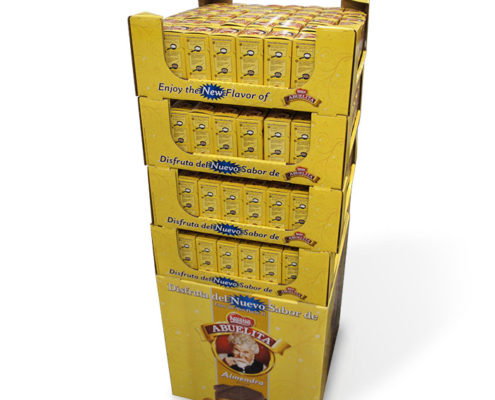 cardboard POP coffee case stacker