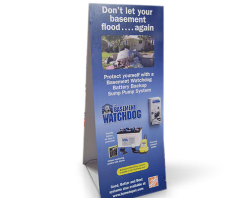 cardboard paper publicity display stand