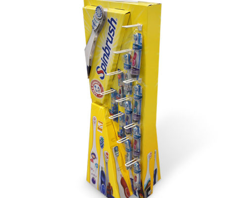 creative cardboard display for toothbrush