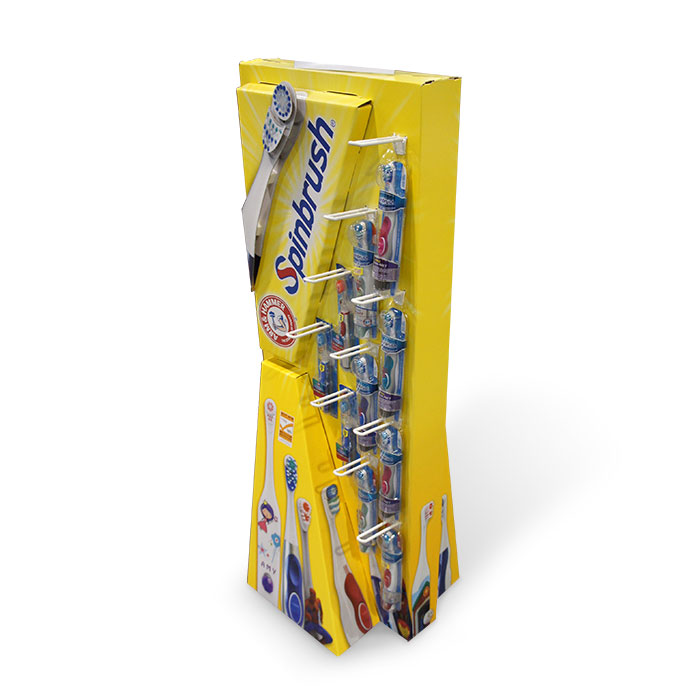 creative cardboard display for toothbrush