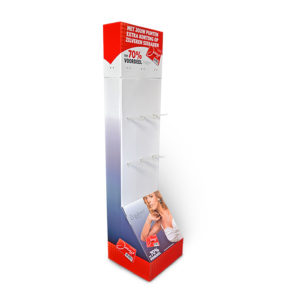 creative retail cardboard floor display