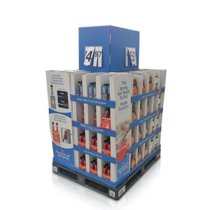 custom walmart cardboard-POP-pallet-display