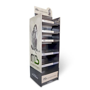 double face cardboard display stand
