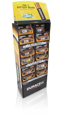 duracell POP cardboard floor displays