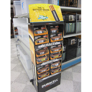 duracell cardboard floor displays