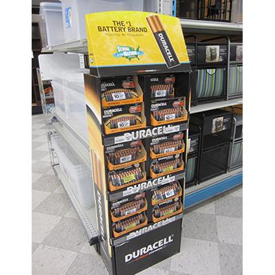 duracell cardboard floor displays
