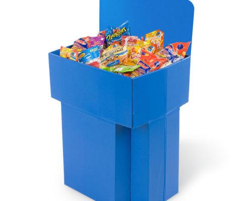 flexo printing cardboard snack dump bins