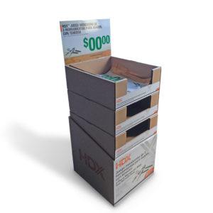 foldable cardboard case stacker display