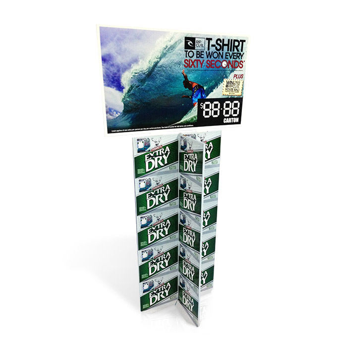 four sided cardboard advertising standee