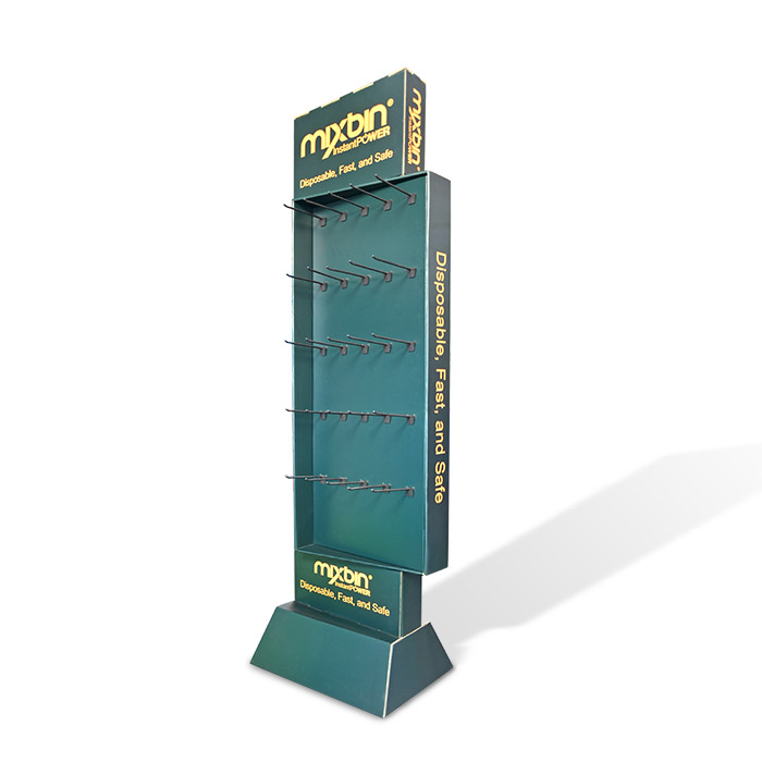 free standing display units with hooks