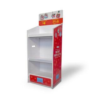 POP up cardboard floor display shelves