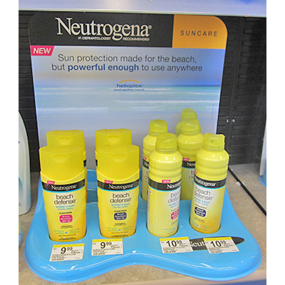 the neutrogena cardboard countertop display program