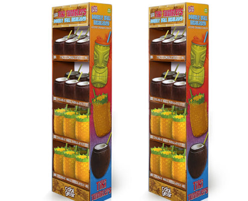 walmart corrugated cardboard power wing displays