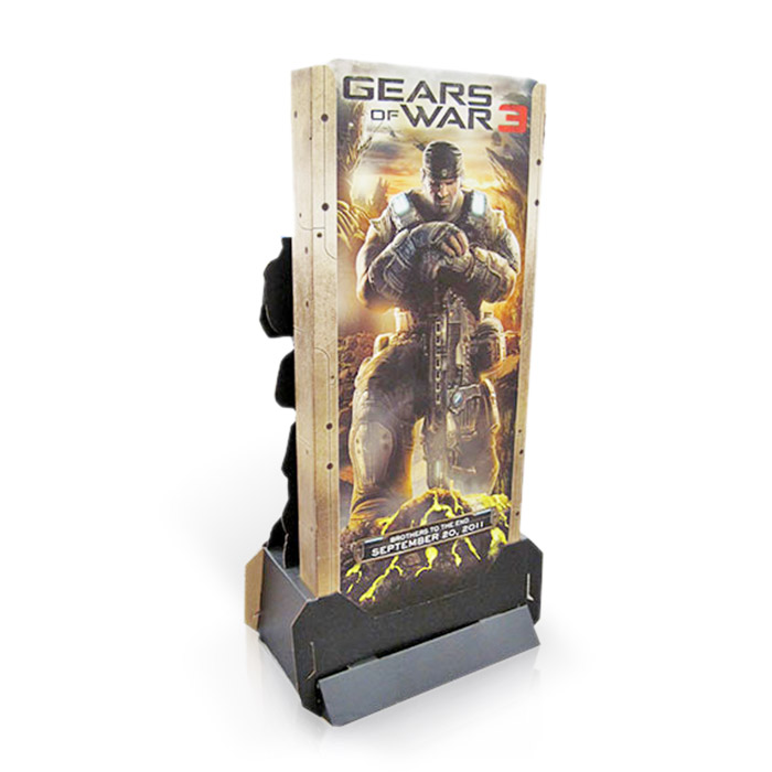 cardboard game advertising promotion display standee