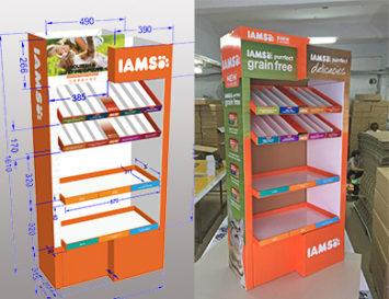 cardboard display design